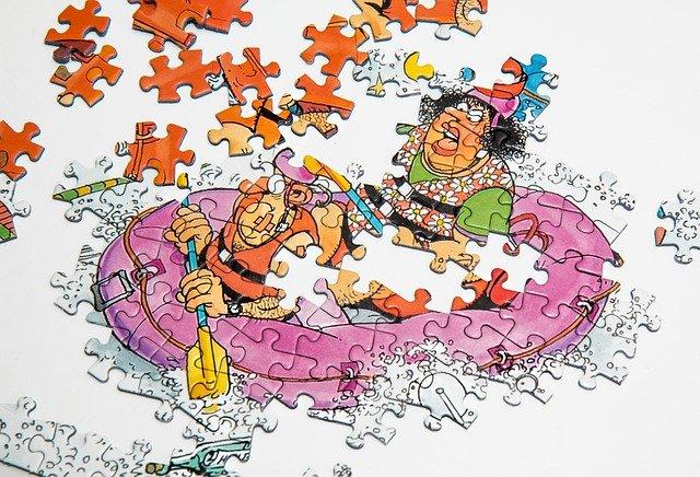 jigsaw puzzle of a cartoon