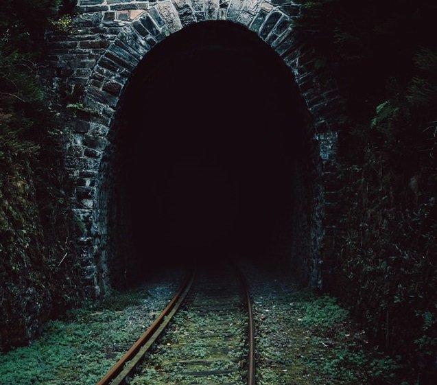 dark tunnel entrance