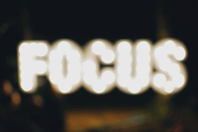 blurred focus word