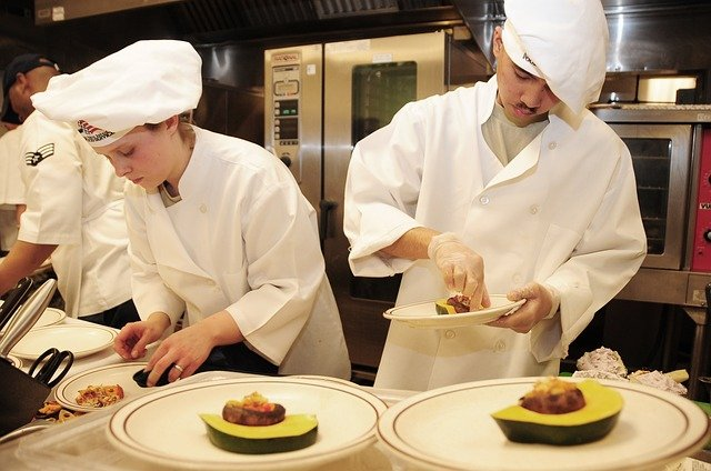 chefs busy cooking
