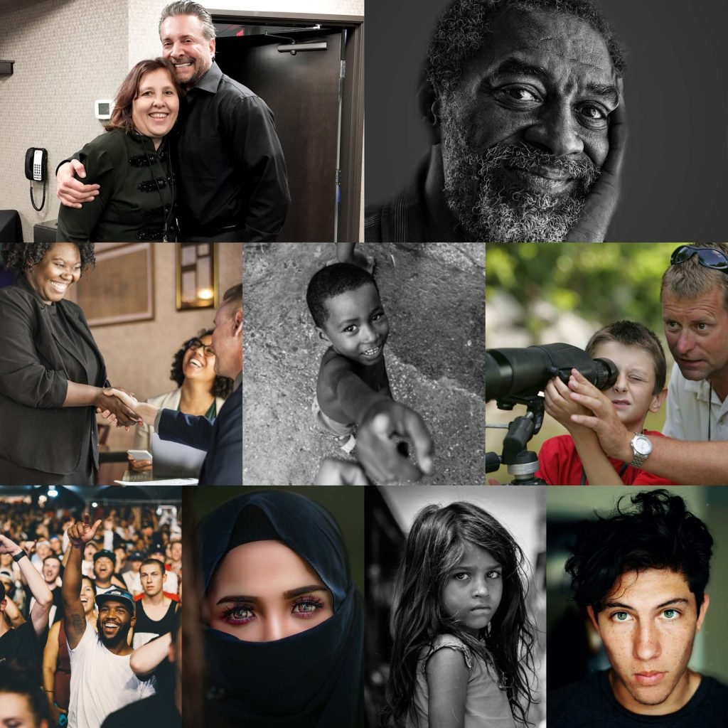 diversity of people collage