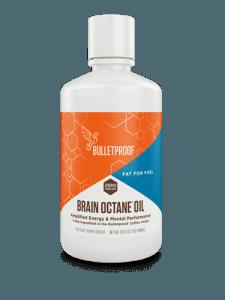 Bulletproof Brain Octane Oil plastic container