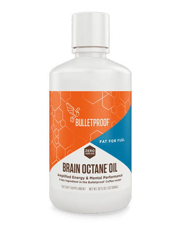 Bulletproof Brain Octane Oil plastic container