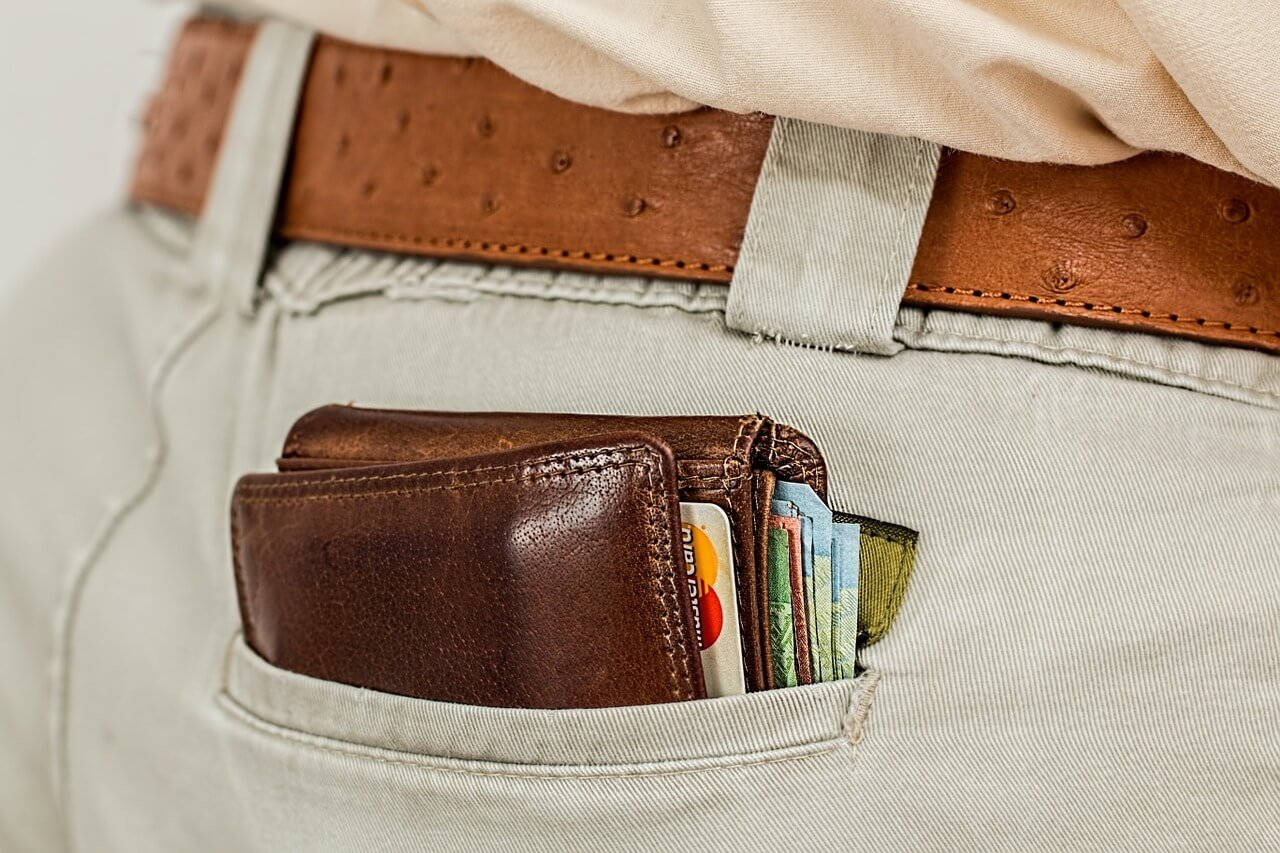 wallet and credit card