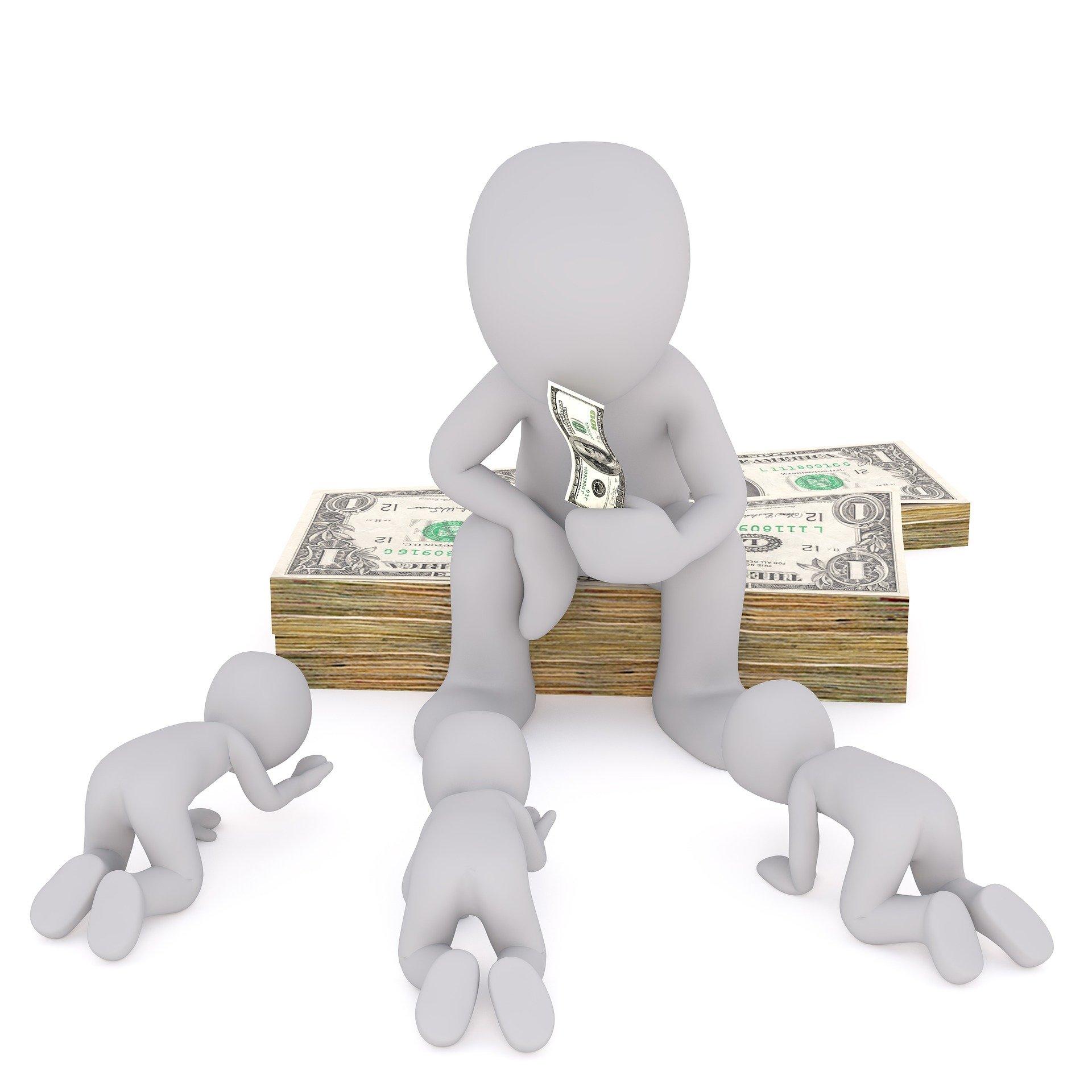 man begging for money