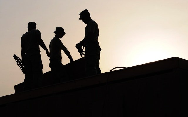 3 silhouette of man working