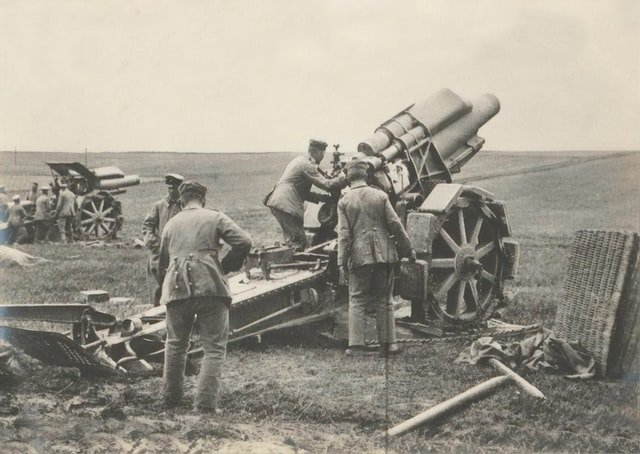 Heavy German mortars
