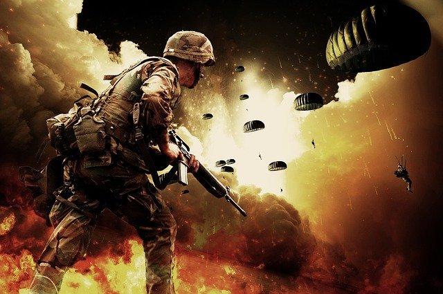 war soldiers paratroopers